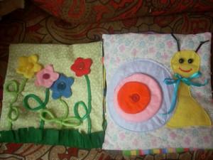 Цветочная полянка и улитка