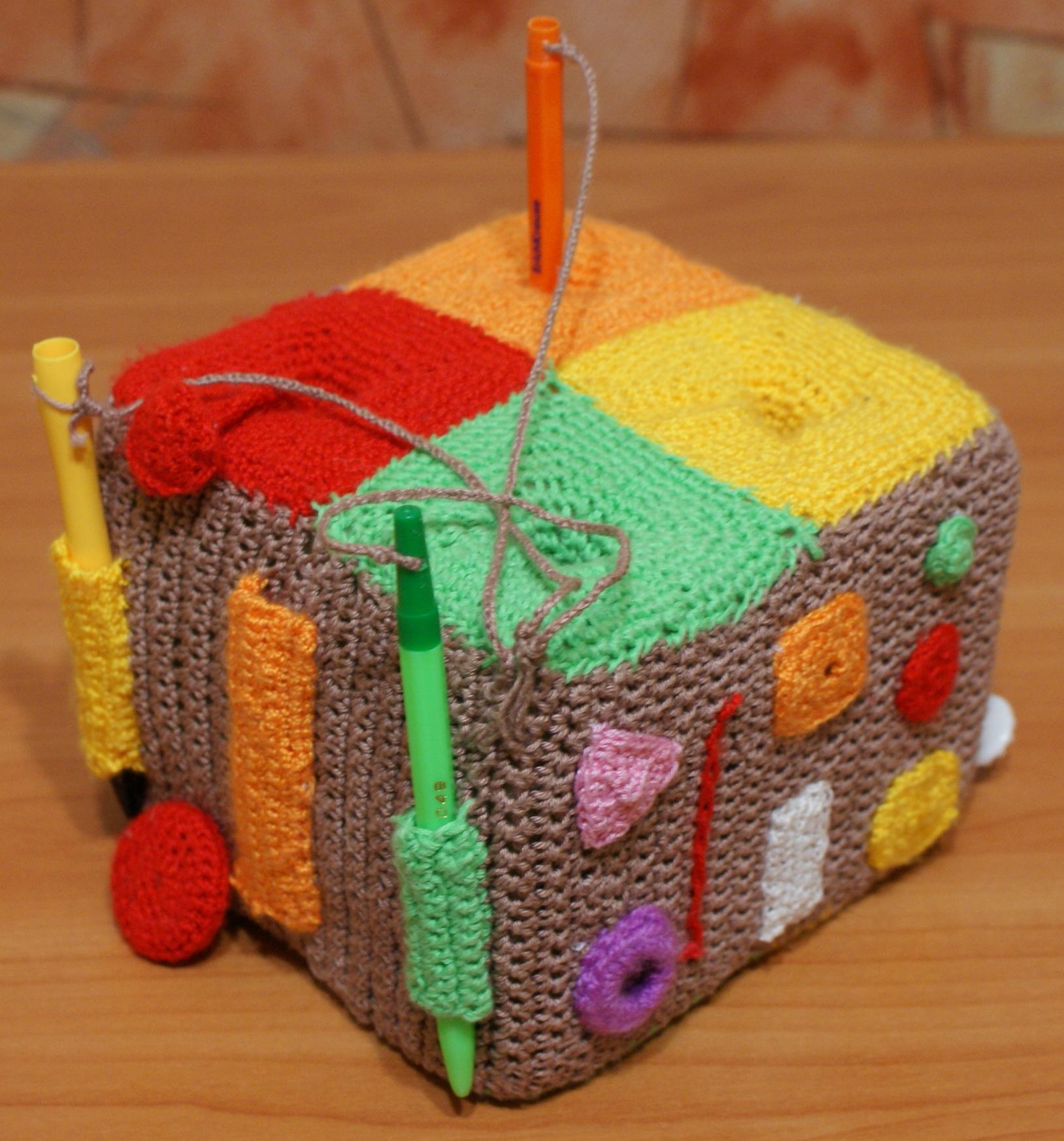 Вязаные развивающие игрушки своими руками