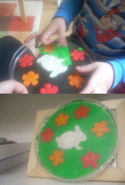 Детские пасхальные поделки - пластилиновая картина