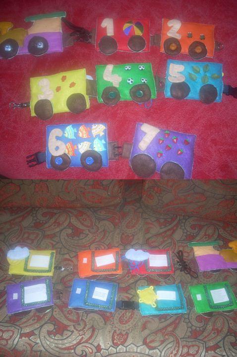 Как учить цвета с детьми: развивающая игрушка-поезд