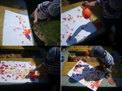 Игры с воздушными шариками: рисование