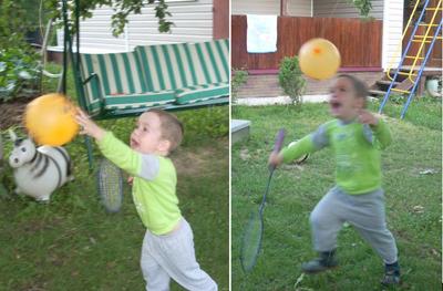 Игры с воздушными шариками: бадминтон