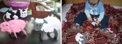 """Тематическая неделя """"На ферме"""": 3D-паззлы домашних животных"""