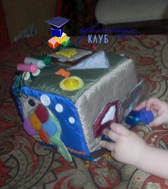 Развивающий мягкий кубик своими руками
