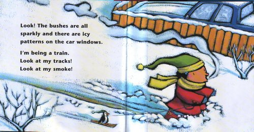 "разворот книги ""Su's Snowgirl"""