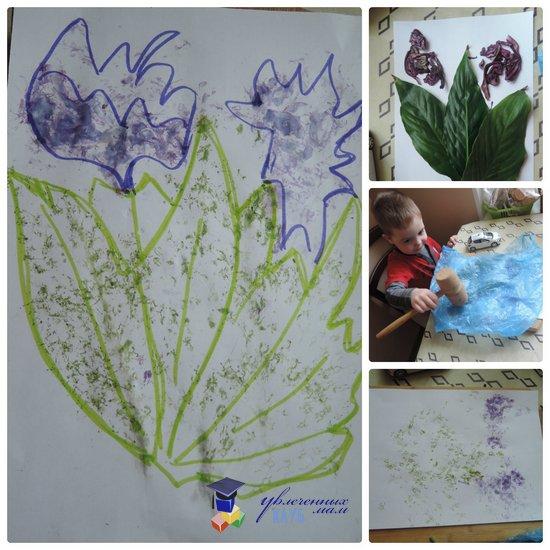 Тематическая неделя Цветы: рисунок молотком