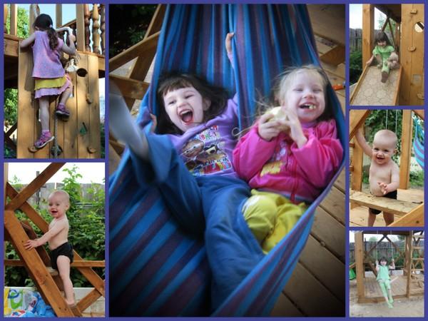 Детская площадка и гамак