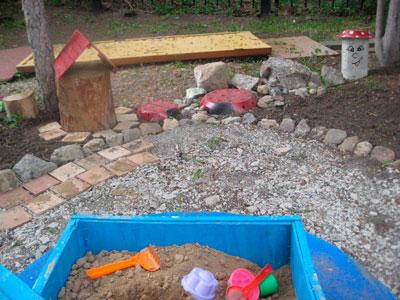 Ландшафт на детской площадке