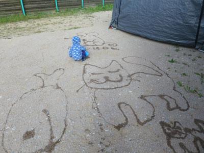 Водные рисунки на песке