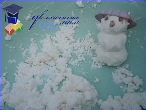 искусственный снег из пены для бритья