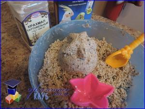 Массажная масса для лепки с песком