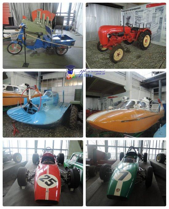 Разнообразие ретро-автомобилей в музее