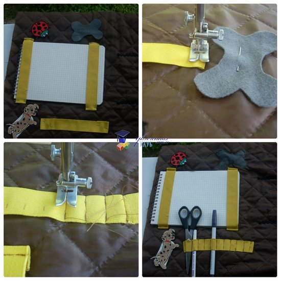 развивающая сумка-раскладушка блокнот и карандаши