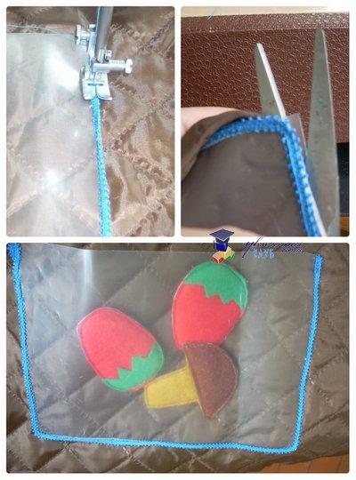 развивающая сумка-раскладушка кармашек для съемных деталей