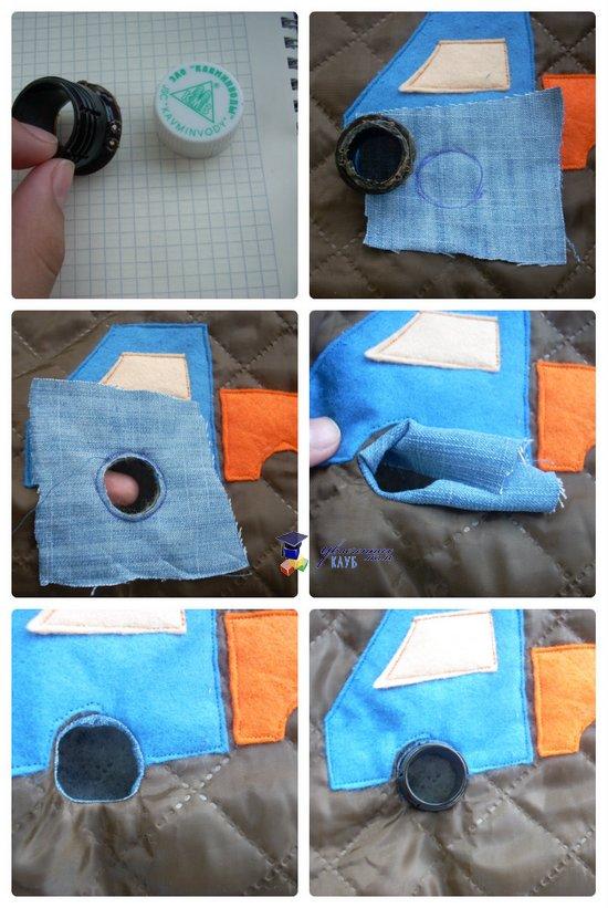развивающая сумка-раскладушка вшивание колес 1