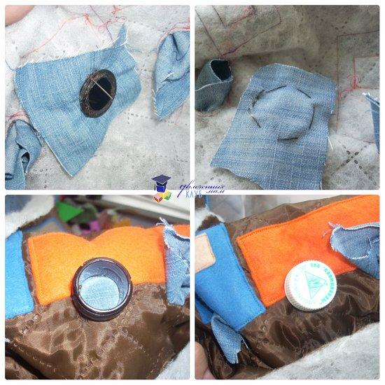 развивающая сумка-раскладушка вшивание колес 2
