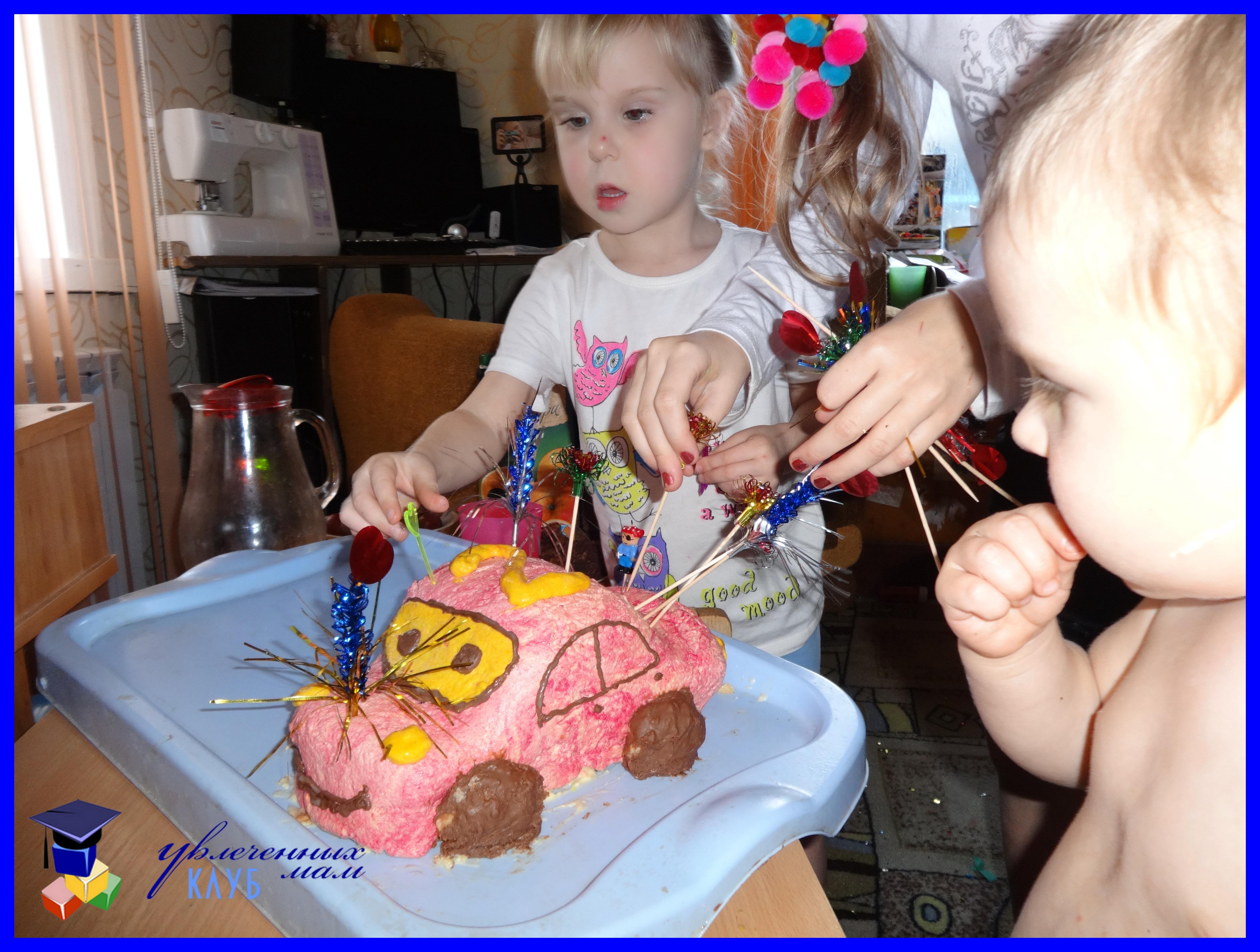 Торты на день рождения ребенку 1 год своими руками фото