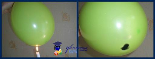 Эксперимент со свечой и воздушным шаром