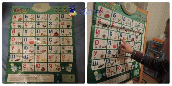 плакат говорящая азбука для обучения чтению