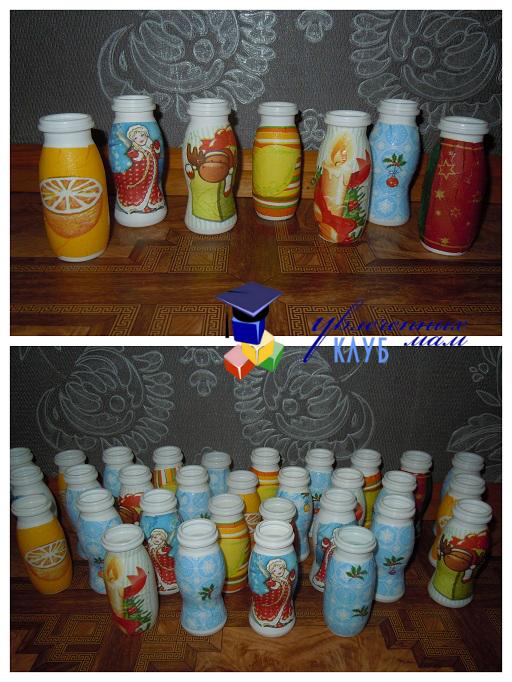 Бутылочки с рисунком для адвента