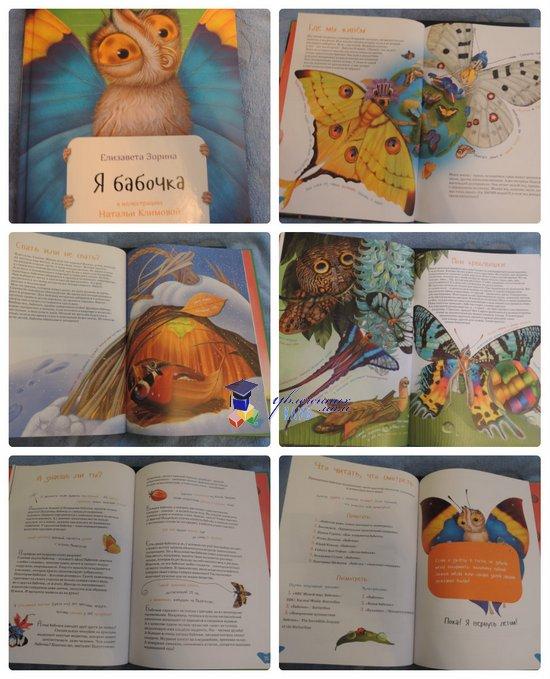 книги о животных Я бабочка