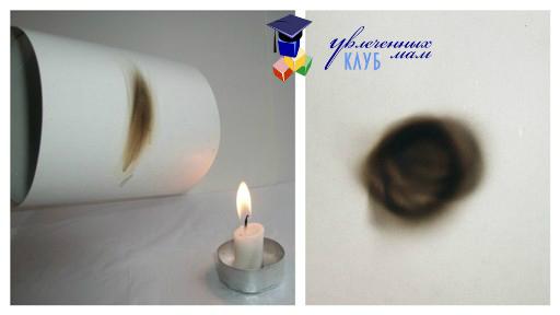 Опыты со свечой: отпечаток пламени