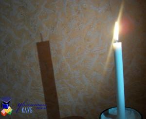 опыт для детей: тень от свечи