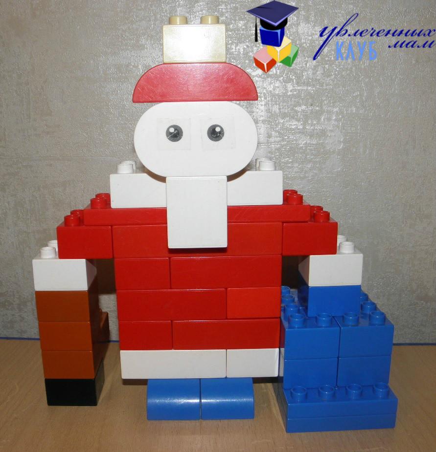Лего-поделки (Lego Duplo) - Дед Мороз