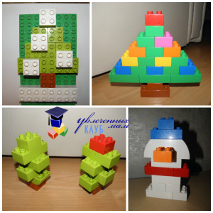 Лего-поделки (Lego Duplo) - Елочки