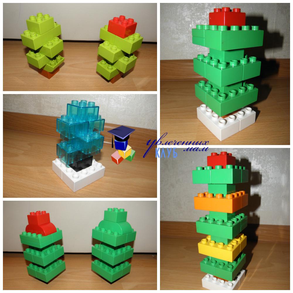 Лего-поделки (Lego Duplo) - Елочки объемные