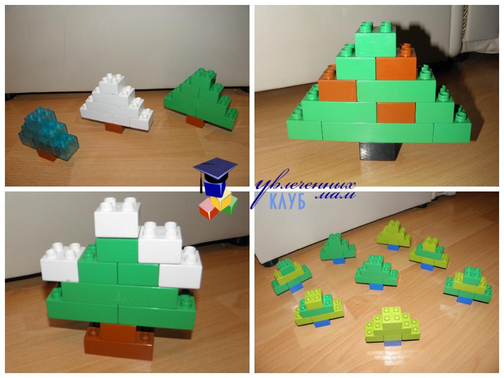 Лего-поделки (Lego Duplo) - Елочки разные
