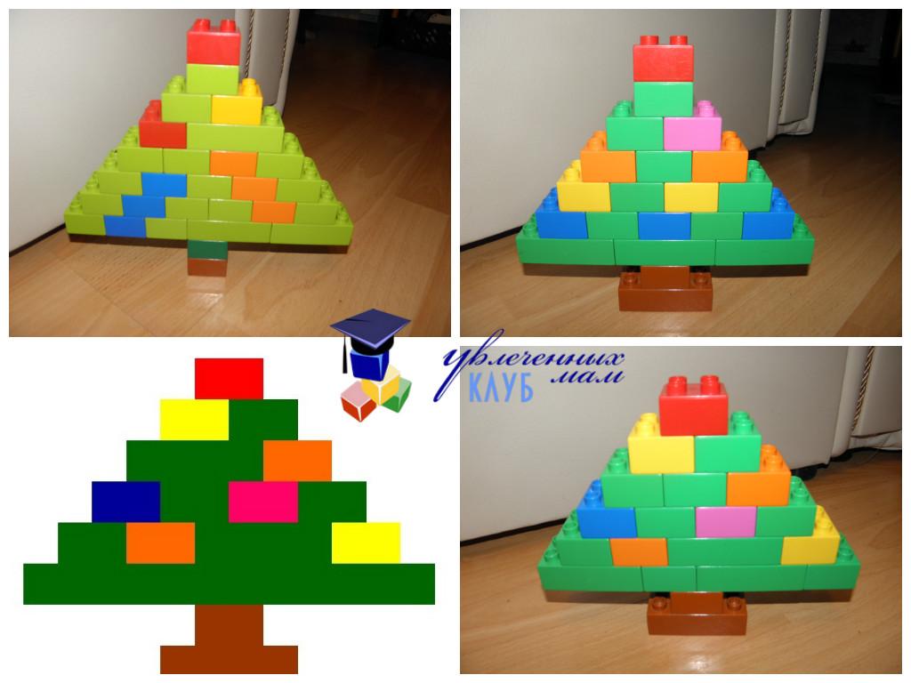 Лего-поделки (Lego Duplo) - Елочки украшаем