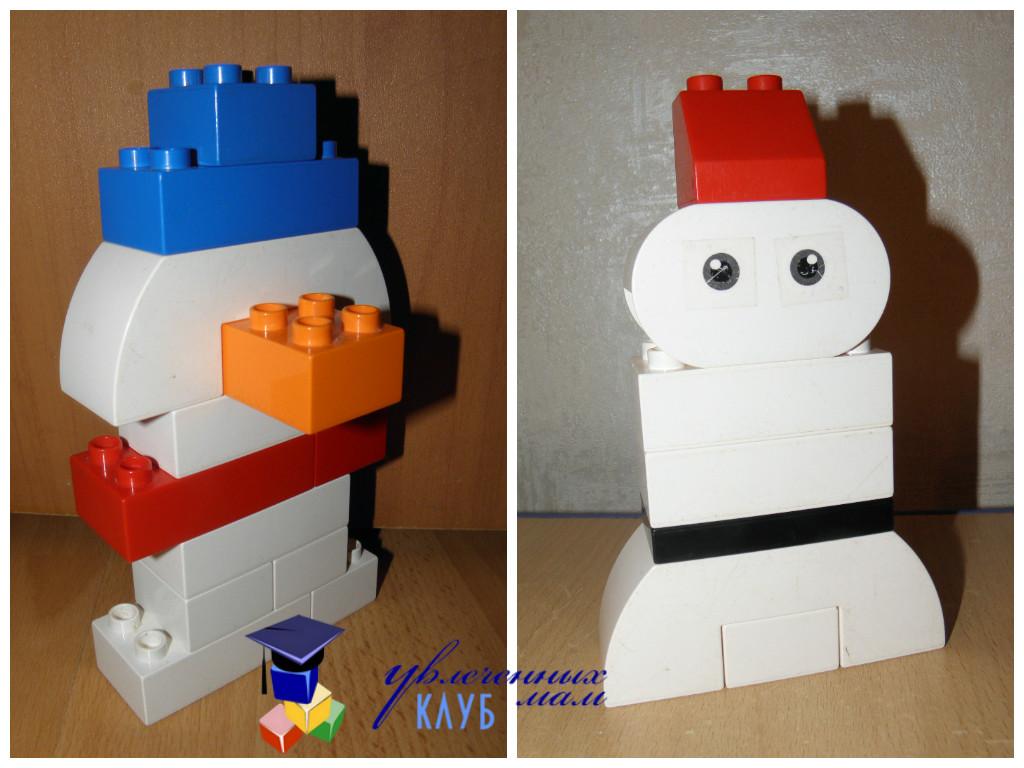 Лего-поделки (Lego Duplo) - Снеговик