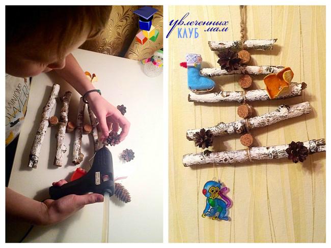 Ёлка из натуральных материалов от Виктории Яковенко