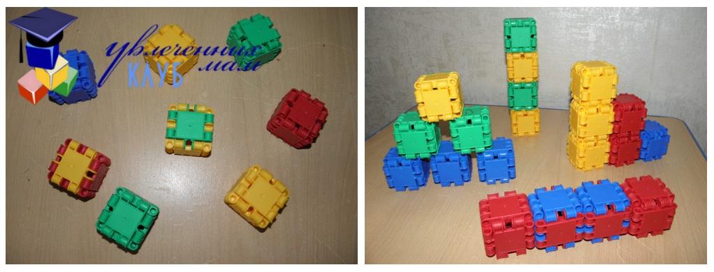 Играем в конструктор CLICS - Кубики