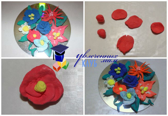 мастер-класс по лепке цветка из пластилина