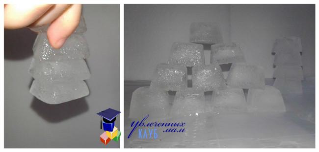 Конструирование из кубиков льда