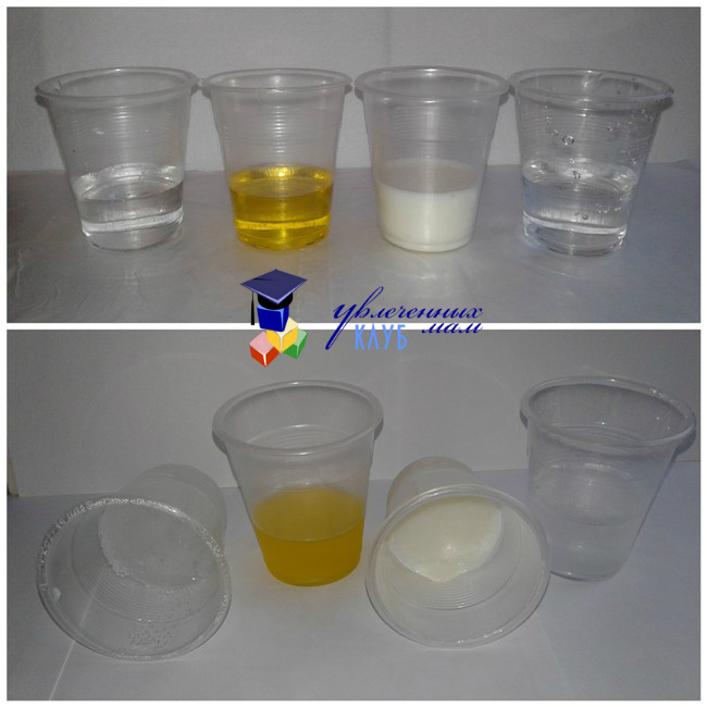 Опыт со льдом: замороженные жидкости