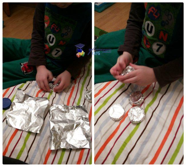Тематическое занятие Парад пуговиц_Египетские серебряные пуговицы