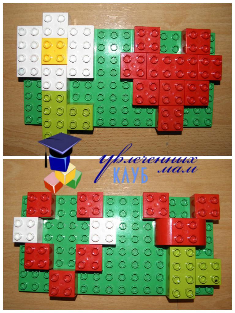 Валентинки из Lego DUPLO - Открытки на пластине