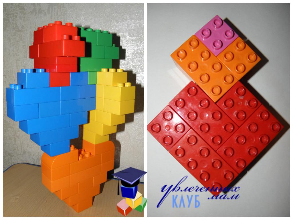 Валентинки из Lego DUPLO - Пирамидки