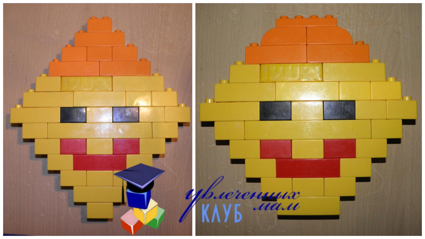 Валентинки из Lego DUPLO - Смайлик