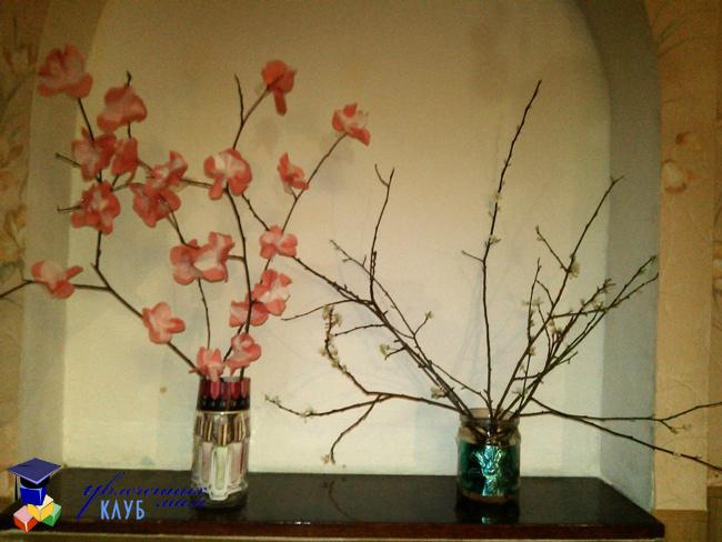 Весенняя поделка Цветущие деревья