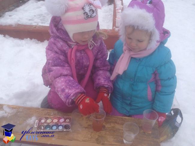 Игры с мороженым на прогулке