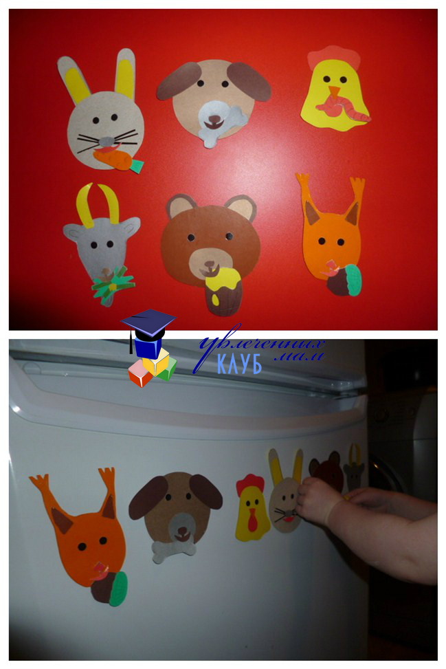 Магнитная игра на холодильник