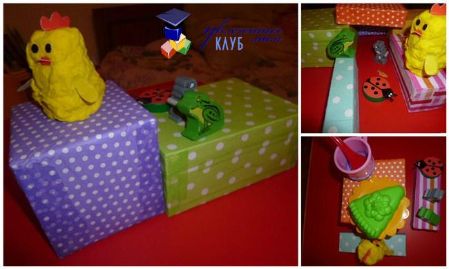 Кубики из коробок