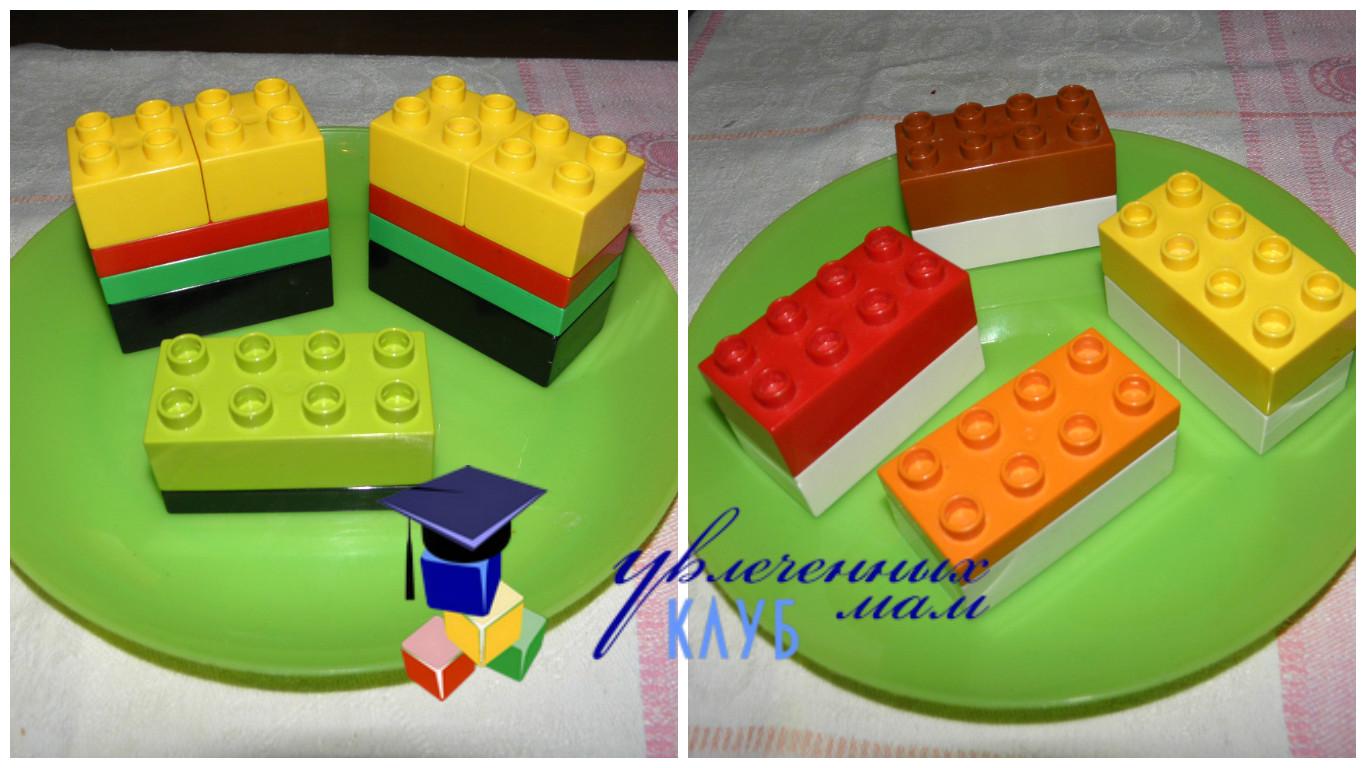 Строим из Lego Duplo - Чаепитие - Бутерброды