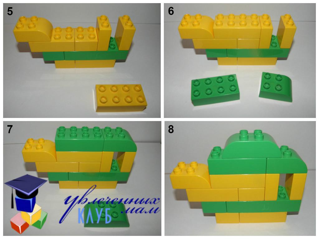 Строим из Lego Duplo - Чаепитие - Чайник по шагам продолжение