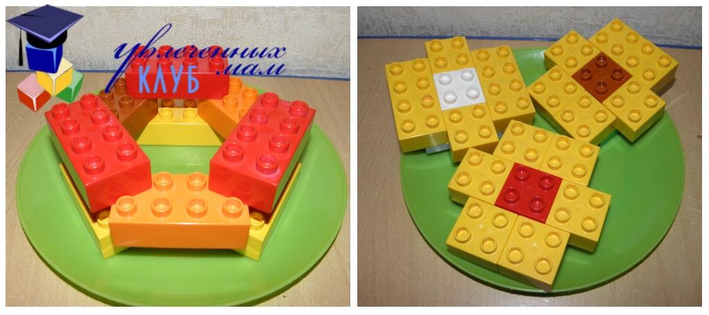 Строим из Lego Duplo - Чаепитие - Калачи Ватрушки