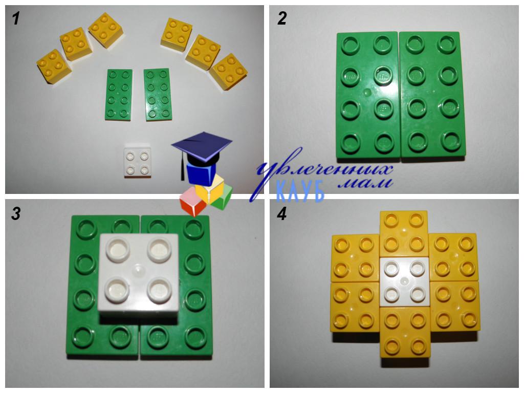 Строим из Lego Duplo - Чаепитие - Ватрушка